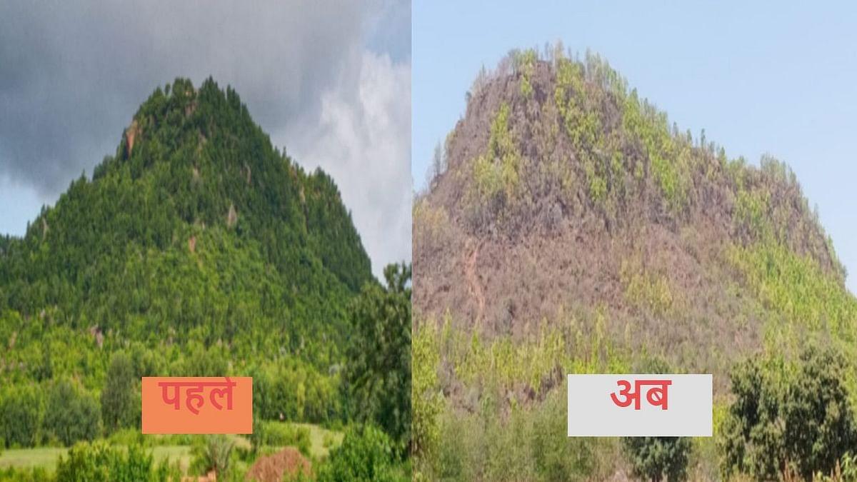 World Environment Day 2021 : हजारीबाग के बड़कागांव का बुढ़वा महादेव पहाड़ की देखिये 2 तस्वीर, इसका जिम्मेवार कौन ?