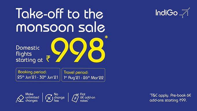 1000 रुपये से भी कम में करें हवाई यात्रा, इंडिगो का मानसून ऑफर, टिकट बुक करने के लिए ये है अंतिम तारीख...