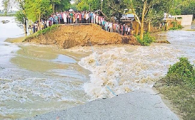 Bihar Flood : कोसी की तेज धार से सुपौल में टूटा बांध, दर्जनों गांव में घुस रहा बाढ़ का पानी, गहराया संकट