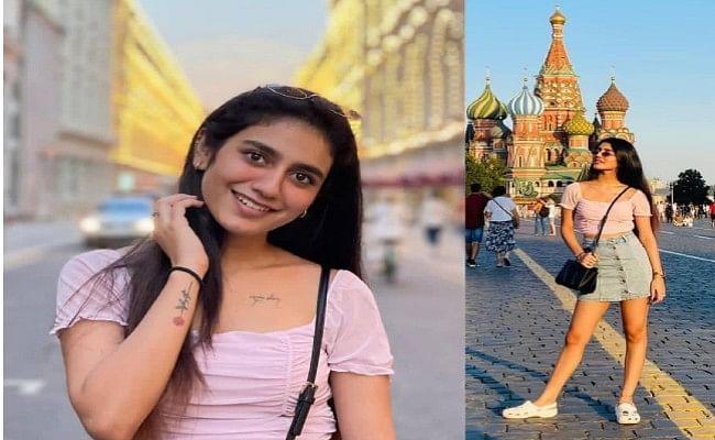 Priya Prakash Varrier ऐसे मना रही हैं हॉलीडे, इंटरनेट सेंसेशन ने मॉस्को की सड़कों पर कराया फोटोशूट