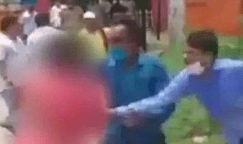 UP Chunav : ब्लॉक प्रमुख के चुनाव से पहले महिला की साड़ी खींचने का VIDEO वायरल, बोले अखिलेश- योगी के गुंडे...