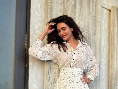 Karishma Tanna Latest Photoshoot In white dress