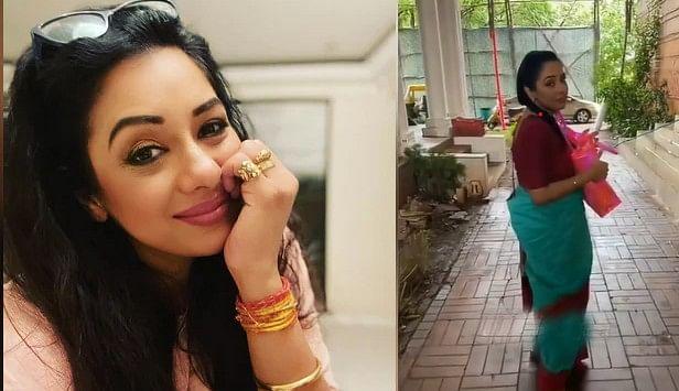 Anupamaa फेम Rupali Ganguly ने चुराया पर्स, कहा अरे मैं तो बस . . .