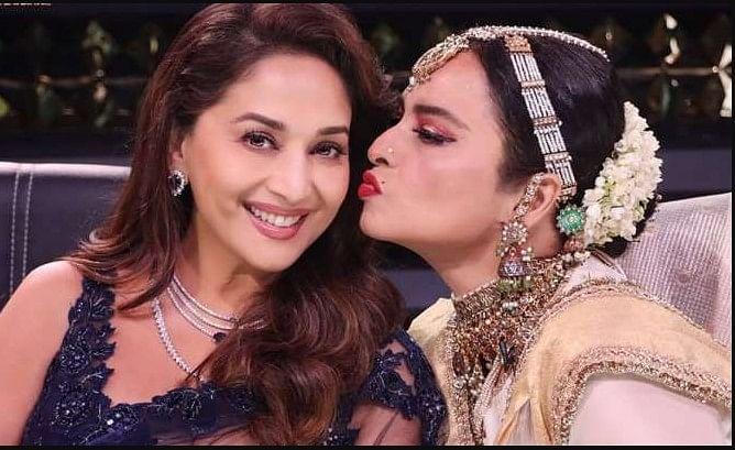 Rekha और माधुरी दीक्षित ने Dance Deewane 3 के सेट पर रीक्रिएट किया 'सिलसिला' का ये सीन, VIDEO