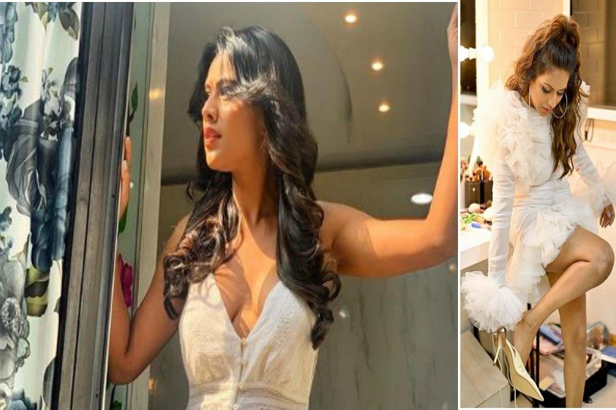 Nia Sharma के बदन पर व्हाईट ड्रेस और पैरों में हाई हील्स, अंदाज देख फिदा हो जाएंगे आप