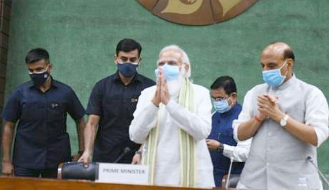 प्रधानमंत्री नरेंद्र मोदी की अध्यक्षता में हुई सर्वदलीय बैठक