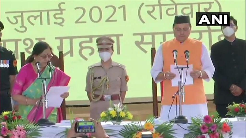 उत्तराखंड में पुष्कर सिंह धामी का राज, नाराज नेता सतपाल महाराज, हरक सिंह रावत और धन सिंह रावत ने भी ली शपथ
