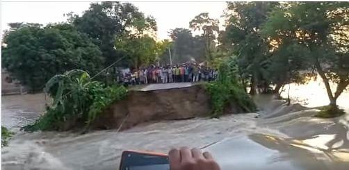 सिकरहटा में कोशी का पश्चिमी सुरक्षा बांध और मधुबनी में धौंस नदी का तटबंध टूटा, लोगों में दहशत