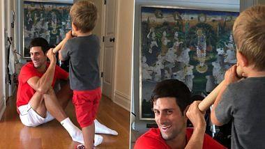 कृष्ण भक्त हैं सर्बियाई टेनिस खिलाड़ी जोकोविच! घर में लगा रखी है भगवान की तसवीर, फोटो हुआ वायरल
