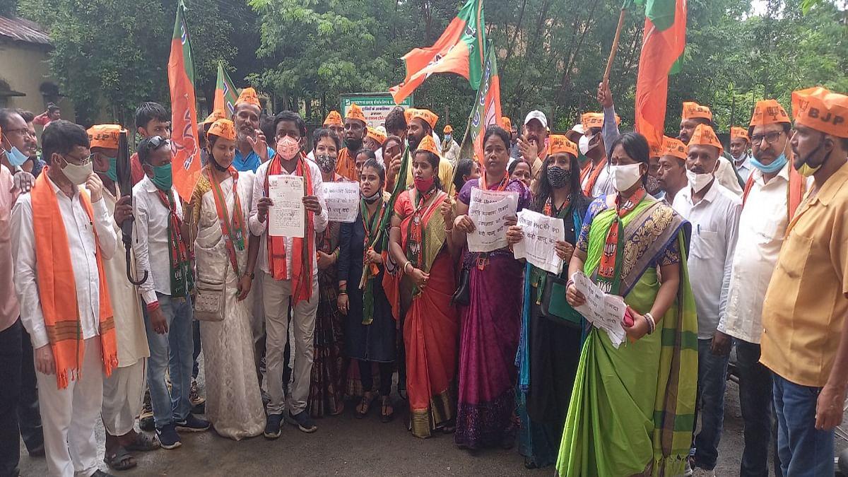 कुचाई में कल्याण हॉस्पिटल को चालू करने की मांग, BJP ने निकाली पदयात्रा, गवर्नर के नाम BDO को सौंपा ज्ञापन