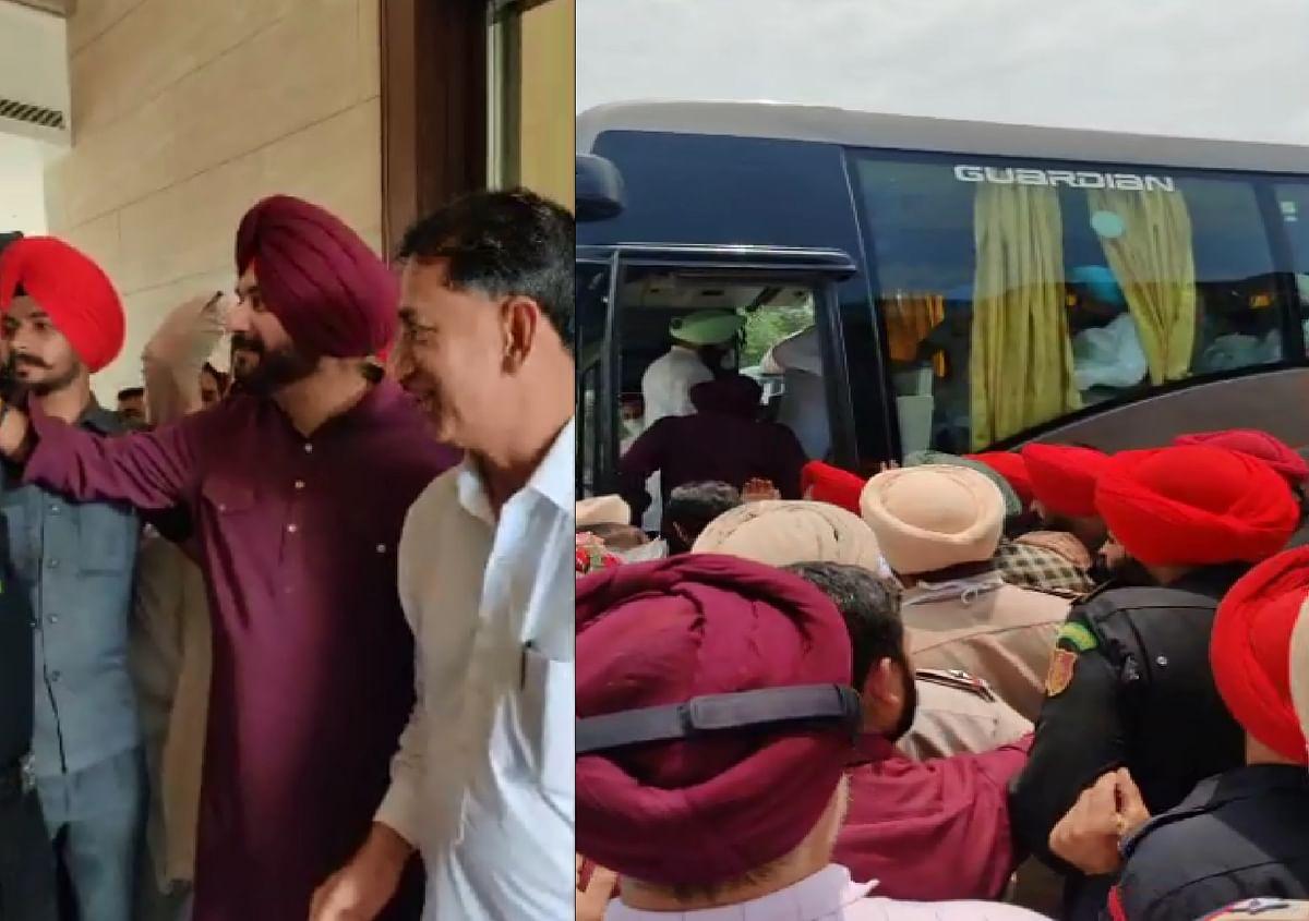 नवजोत सिंह सिद्धू ने 62 विधायकों के साथ स्वर्ण मंदिर में टेका मांथा