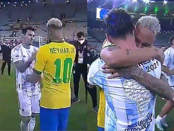 VIDEO: फाइनल में हार के बाद रोने लगे नेमार, मेसी ने गले लगा दिया दिलासा, सोशल मीडिया पर फैंस ने लुटाया प्यार