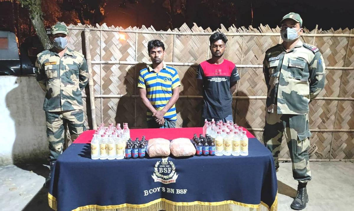 बीएसएफ ने नदिया से दो बांग्लादेशी मानव तस्करों को किया गिरफ्तार