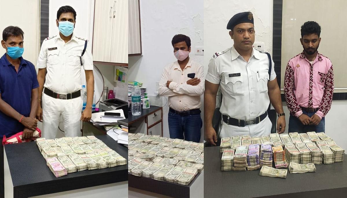 लाखों रुपये के साथ कोलकाता में तीन गिरफ्तार