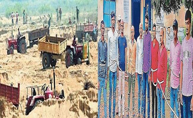बिहार में बालू माफियाओं के हौसले बुलंद, अवैध कारोबार रोकने पहुंची पुलिस पर फायरिंग