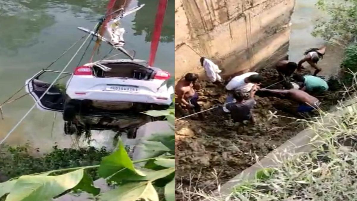 30 फीट गहरे कैनाल में गिरी कार, सरायकेला के चांडिल में रांची और खूंटी के 3 लोगों की हुई मौत