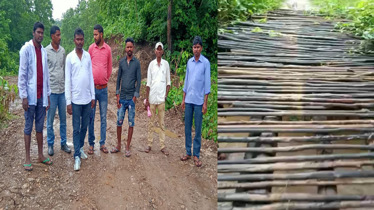 हजारीबाग के बड़कागांव में युवाओं की टोली ने श्रमदान से बनाये 4 किमी सड़क, दूध मटिया नदी पर लकड़ी की पुलिया का निर्माण