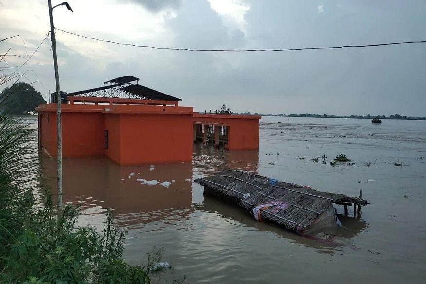 पटना के दियारा क्षेत्र में घुसा बाढ़ का पानी