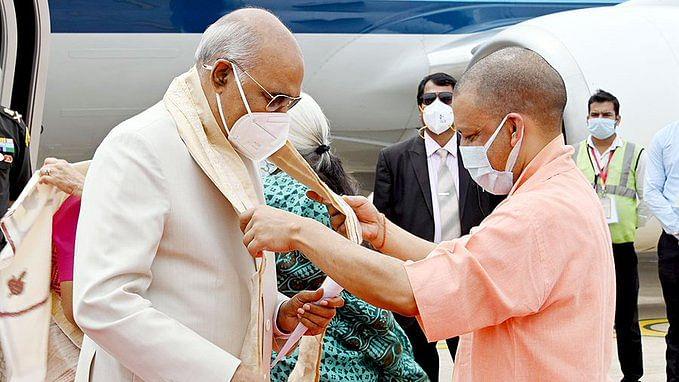 राष्ट्रपति रामनाथ कोविंद पहुंचे लखनऊ, एयरपोर्ट पर CM योगी और राज्यपाल ने किया स्वागत, जानें आज का पूरा शेड्यूल