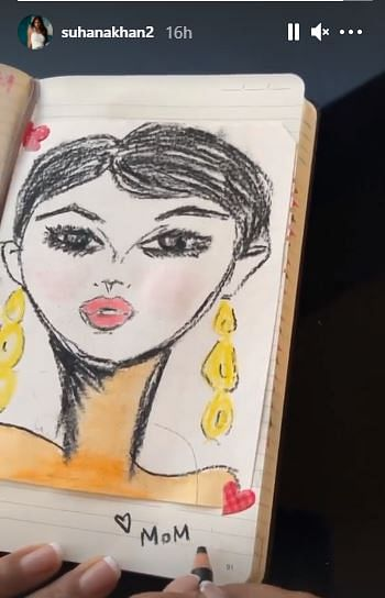 सुहाना खान की पेंटिंग वीडियो वायरल