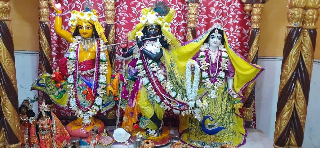 Janmashtami 2021 : झारखंड के विश्व प्रसिद्ध इस्कॉन मंदिर में भगवान श्रीकृष्ण के महाभिषेक की ये है तैयारी