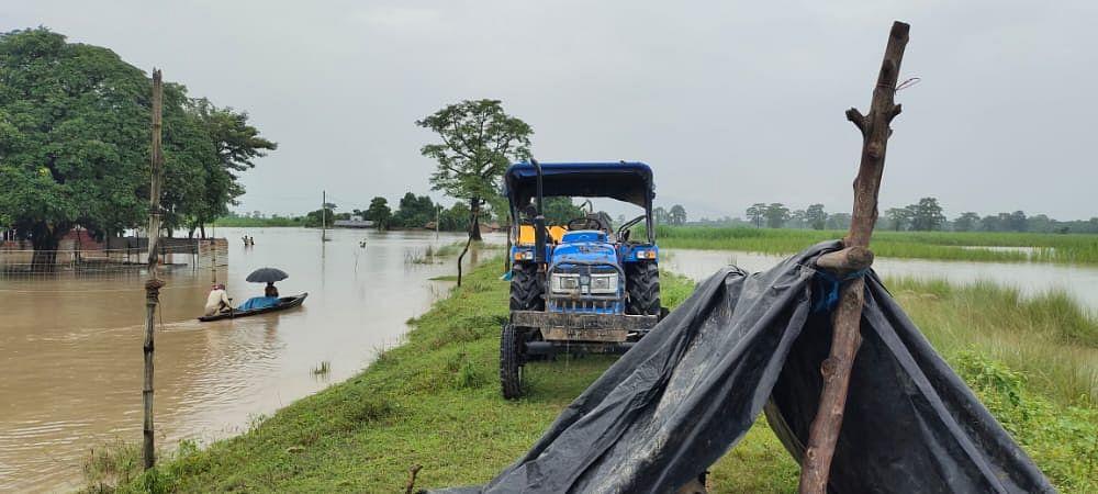 सीमावर्ती इलाकों में बाढ़ का पानी