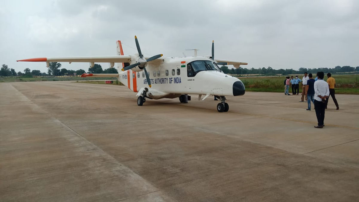 देवघर एयरपोर्ट का कैलिब्रेशन टेस्ट फाइनल, दिल्ली से आयी 16 सीटर एयरक्राफ्ट की टेकअप व लैंडिंग हुई सफल