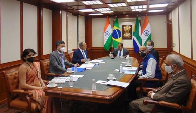 IBSA की बैठक में समुद्री सुरक्षा और आतंकवाद समेत कई मुद्दों पर हुई चर्चा, एनएसए अजीत डोभाल ने की मेजबानी