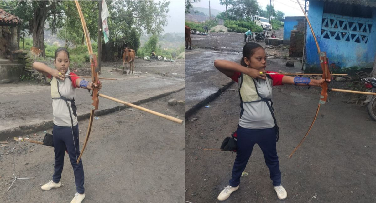 Jharkhand News: टूटी हुई धनुष से निशाना साध रही है धनबाद की जूनियर तीरंदाज तनीषा, मददगारों की आस में हैं परिजन
