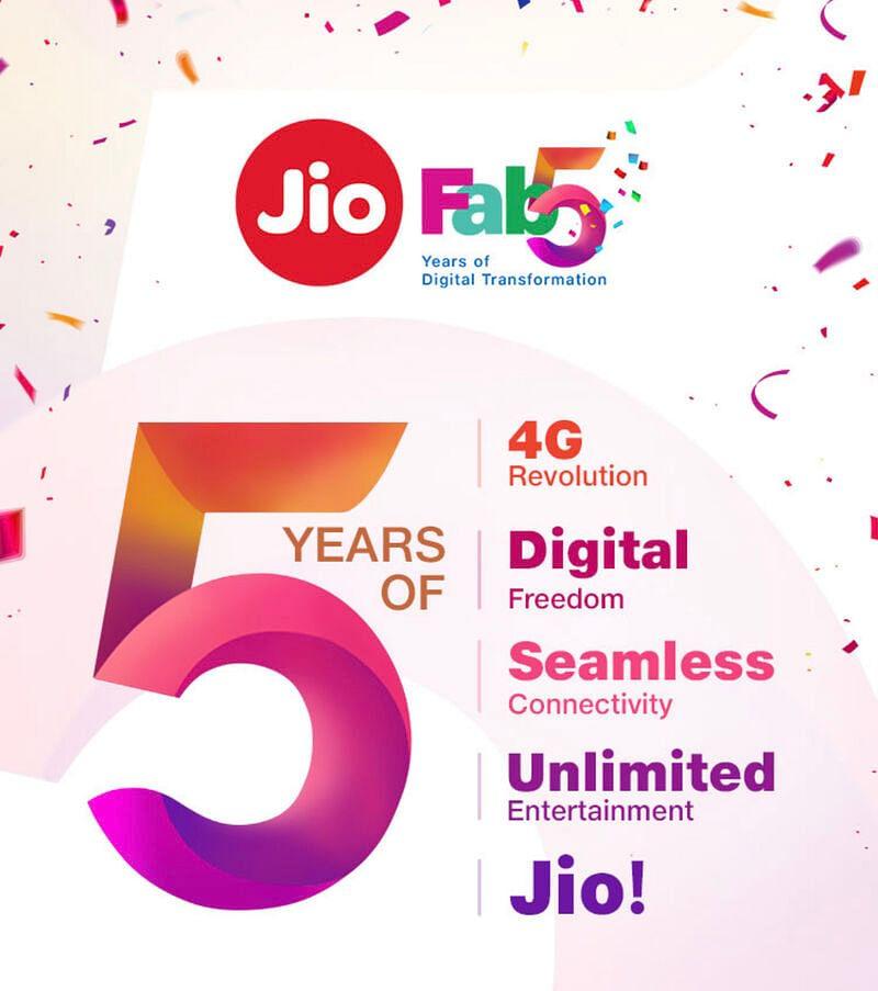 5 years of jio