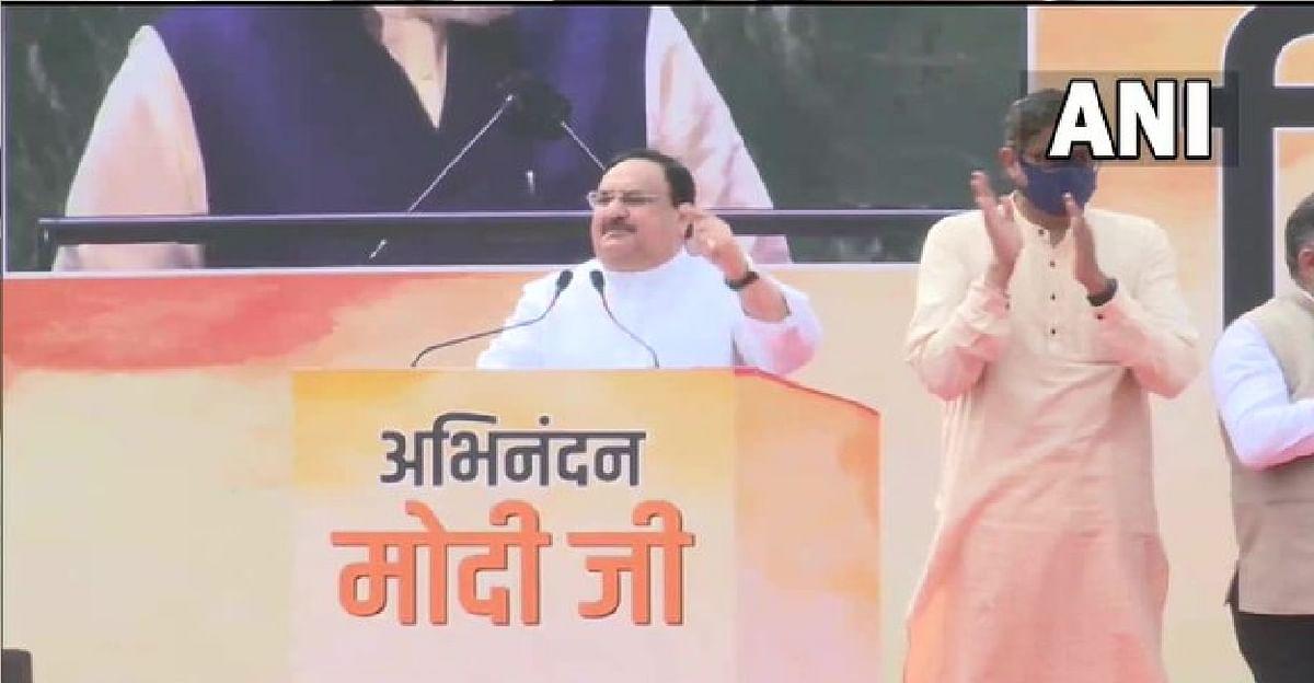 भारत पहुंचे पीएम का जोरदार स्वागत,  जेपी नड्डा ने कहा मोदी के नेतृत्व में भारत बदल रहा है