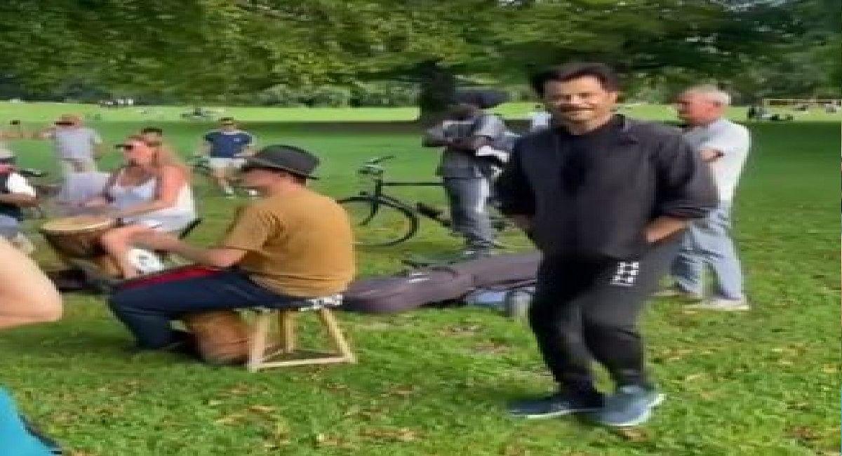 क्या आपने देखा अनिल कपूर का No Mask डांस, पार्क में थिरकते आए नजर, देखें वीडियो