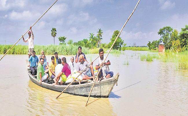 Bihar Flood: गंडक नदी के रौद्र रूप से गोपालंगज में तबाही, 10 हजार से अधिक घरों में घुसा बाढ़ का पानी