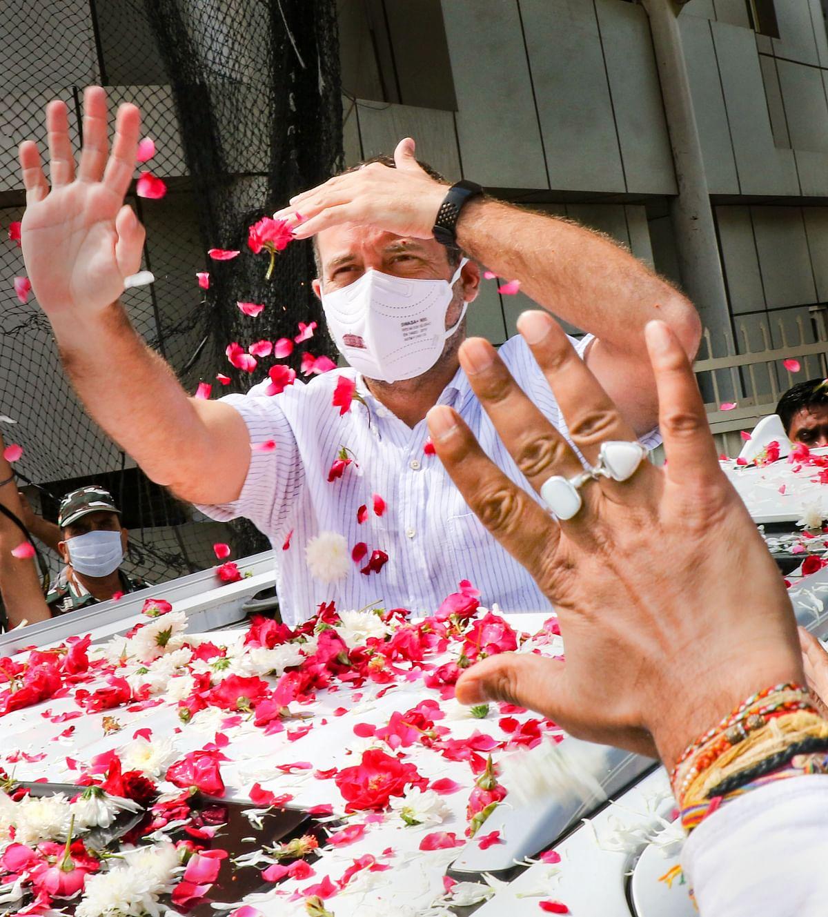 पांच राज्यों में विधानसभा चुनाव से पहले वैष्णो देवी की शरण में कांग्रेस नेता राहुल गांधी
