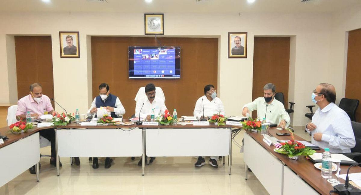 केंद्र व राज्य के विवादित मुद्दों को सुलझाने नीति आयोग की टीम रांची में, CM हेमंत सोरेन से की मुलाकात