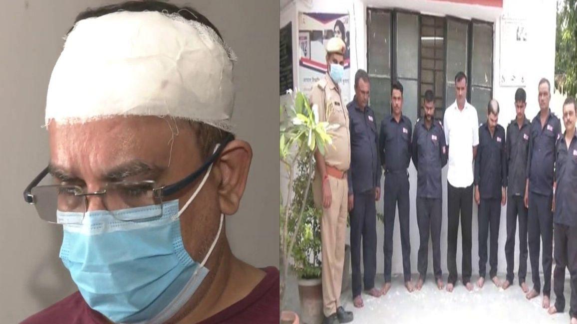 UP News: Noida की सोसायटी में गुंडागर्दी, सुरक्षा गार्डों ने रेजीडेंट को लाठियों से पीटा, आठ गिरफ्तार