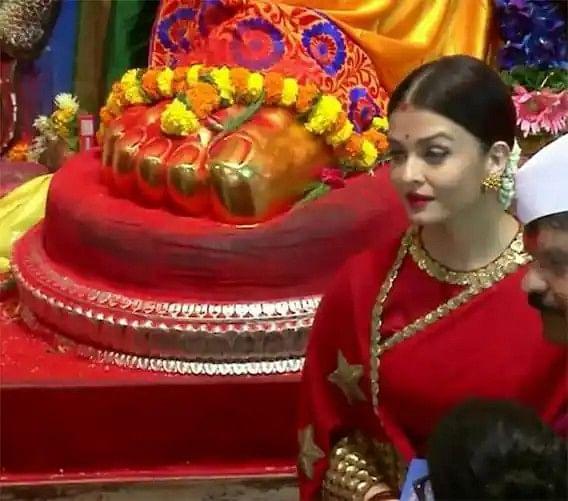 लाल साड़ी में ऐश्वर्या राय बच्चन की वायरल हो रही तसवीरों के पीछे क्या राज है ?
