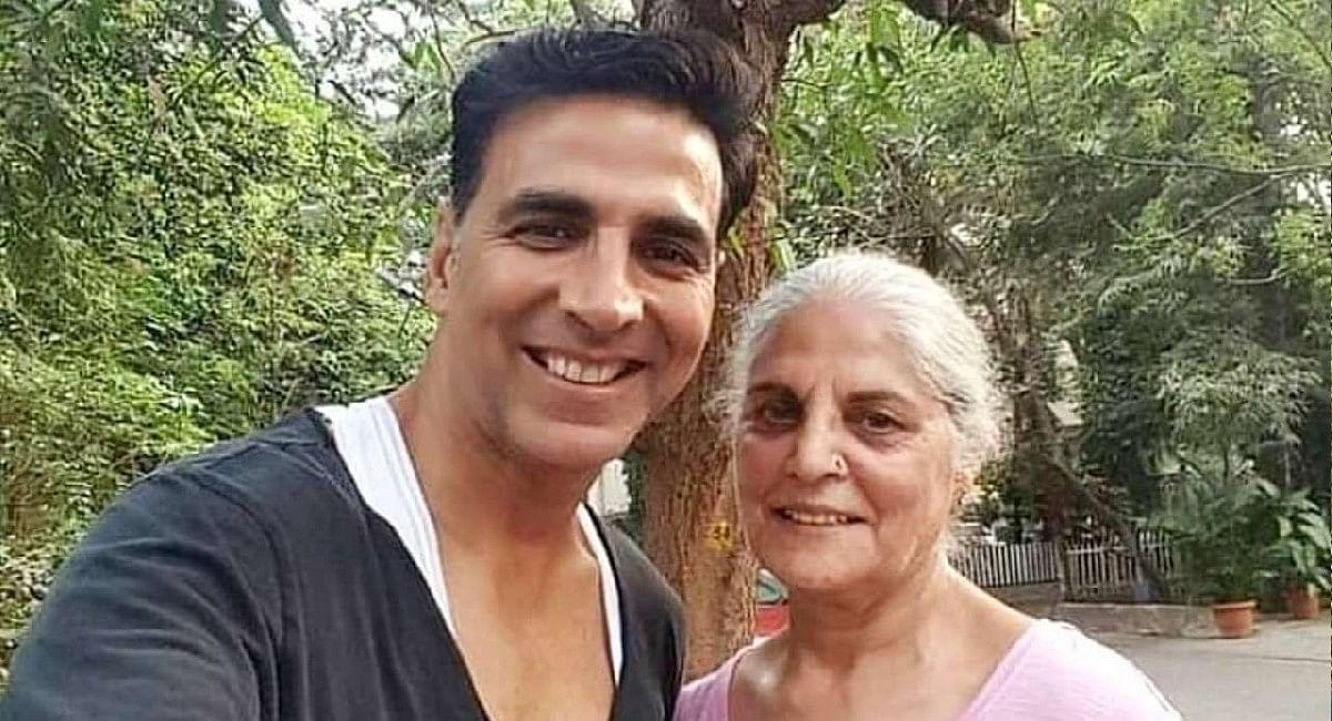 अक्षय कुमार की मां अरुणा भाटिया ICU में एडमिट, Cindrella की शूटिंग छोड़ लंदन से वापस आए एक्टर