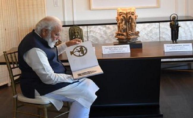 अमेरिका से 157 कलाकृतियों और पौराणिक वस्तुओं के साथ पीएम मोदी भारत रवाना