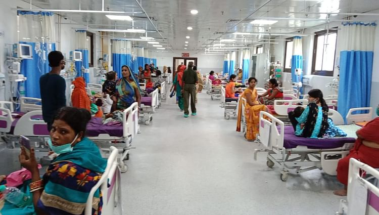 बिहार में वायरल बुखार का कहर, SKMCH के 100 बेड वाले पीकू वार्ड में 145 बच्चों का हो रहा इलाज
