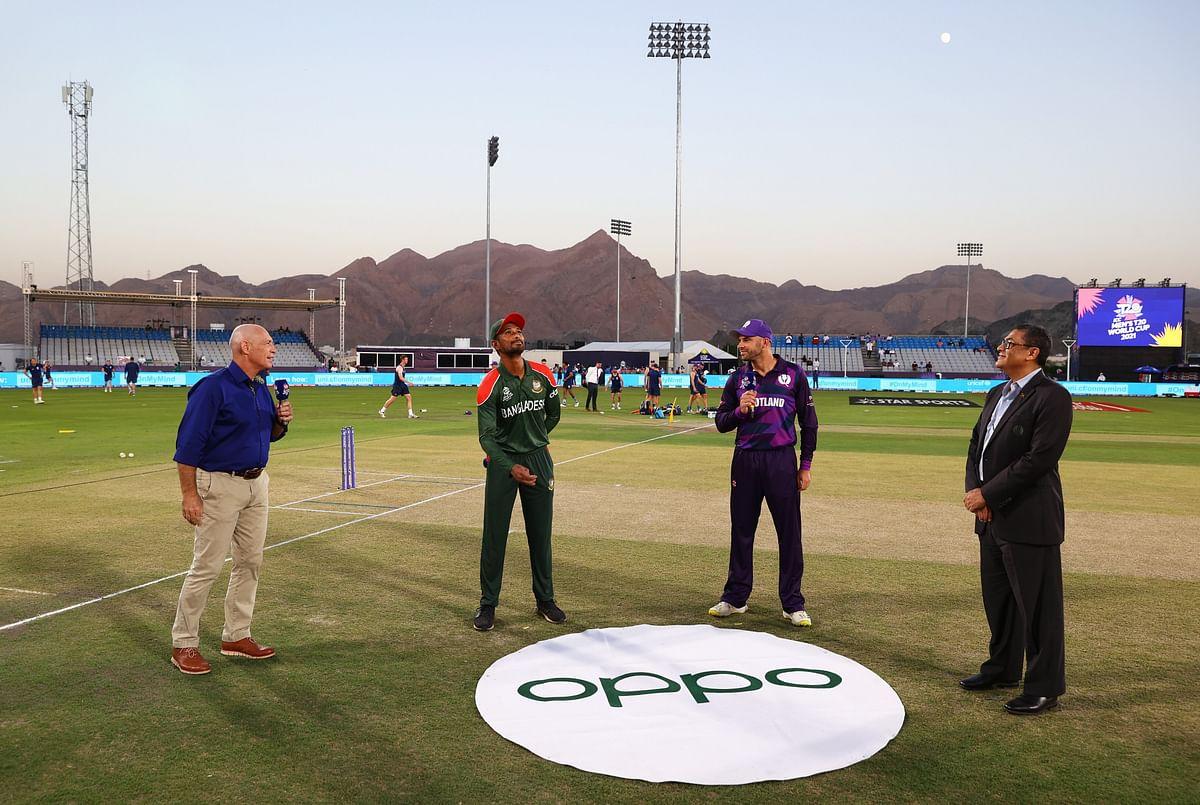 BAN vs SCO T20 World Cup Live score: बांग्लादेश को दूसरा झटका, लिटन दास 5 रन बनाकर आउट, BAN 19/2 (4)