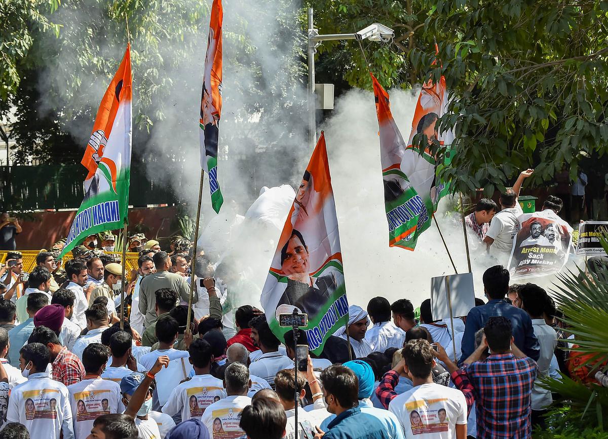 लखीमपुर खीरी मामला: आशीष मिश्रा की गिरफ्तारी से पहले युवा कांग्रेस ने दिल्ली में काटा बवाल