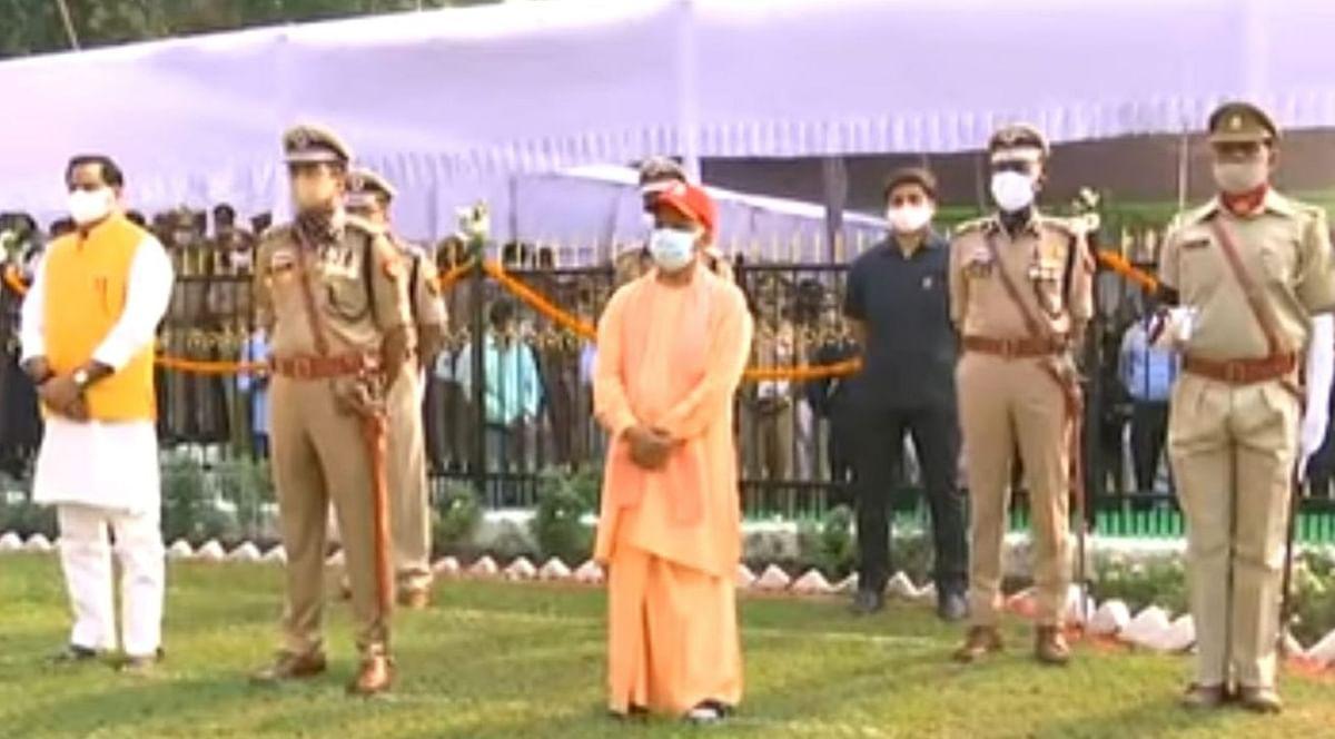 Aligarh News: पुलिस स्मृति दिवस में CM योगी आदित्यनाथ, शहीद सोनू कुमार के परिजनों से की मुलाकात