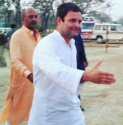 राहुल गांधी के साथ प्रजनाथ शर्मा