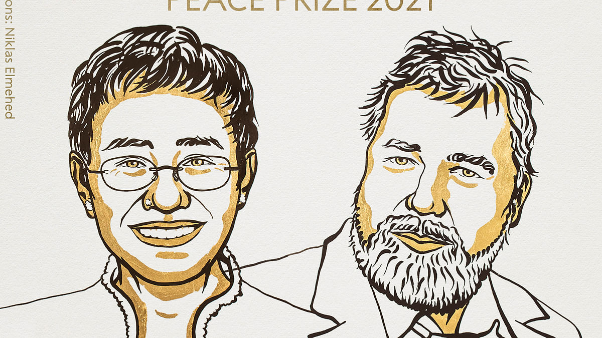 Nobel Peace Prize 2021 : सत्ता के खिलाफ आवाज बुलंद करने वाले दो जर्नलिस्ट को नोबेल शांति पुरस्कार