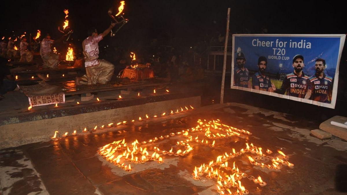 IND vs PAK T20 World Cup Match से पहले गंगा सेवा निधि ने दशाश्वमेध घाट पर किया दीप प्रज्ज्वलित, लिखा-विजयी भव: