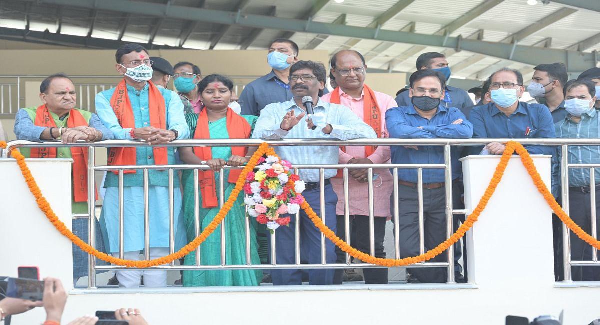 CM हेमंत ने रांचीवासियों को दिया दीपावली का तोहफा, वेजिटेबल मार्केट और सरदार पटेल पार्क का किया उद्घाटन