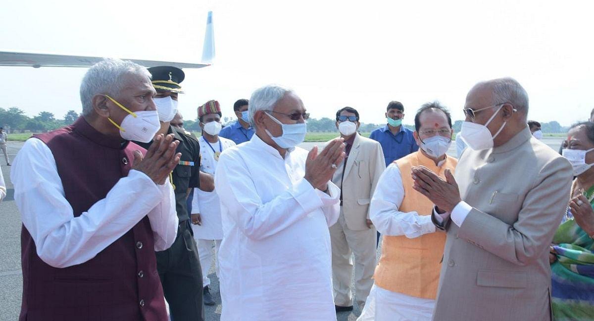 Bihar: राष्ट्रपति के लिए जमीन से लेकर आसमान तक ठहरा ट्रैफिक, कड़े पहरे के बीच बिहार से लौटे दिल्ली