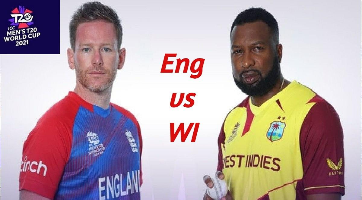 ENG vs WI T20 WC Live Score: वेस्टइंडीज को 6ठा झटका, पूरन एक रन बनाकर आउट, WI 44/6 (10)
