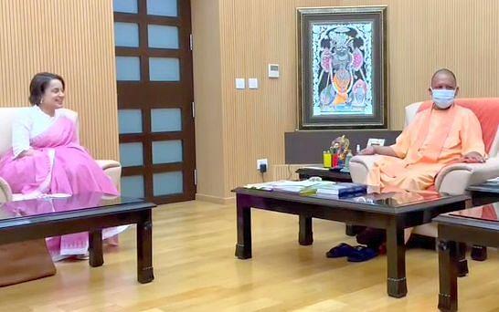 कंगना रनौत ने योगी आदित्यनाथ से की मुलाकात, 'तेजस' फिल्म की शूटिंग के सिलसिले में यूपी में थीं एक्ट्रेस